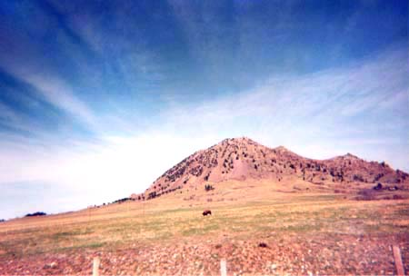 Mahto Paha/ Bear Butte, as photographed by Linda Brown in 2002