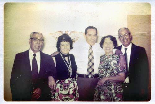 The five children of Albert and Lillian Leclaire.