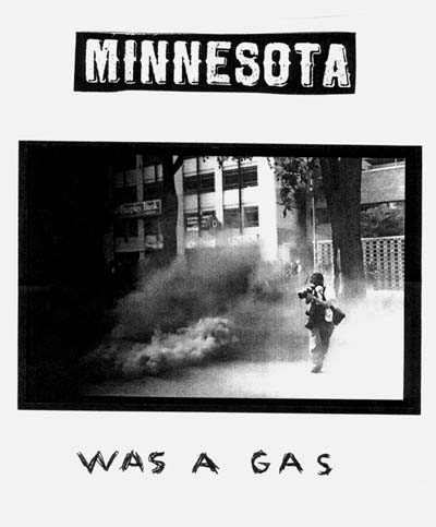One of a series of posters created by the artist Alex Lilly inspired by what happened in St. Paul during the Republican National Convention in September 2008.