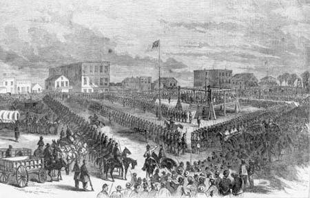 The execution of the 38 Dakota at Mankato in December 1862