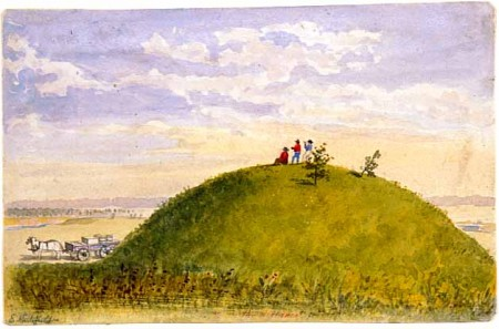 Indian Mound Painter: Edwin Whitefield (1816-1892)  Art Collection, Watercolor ca. 1857  Location no. AV1995.141.42  Negative no. 19251